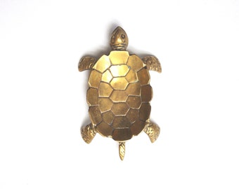 Vintage Brass Turtle Dish or Bowl