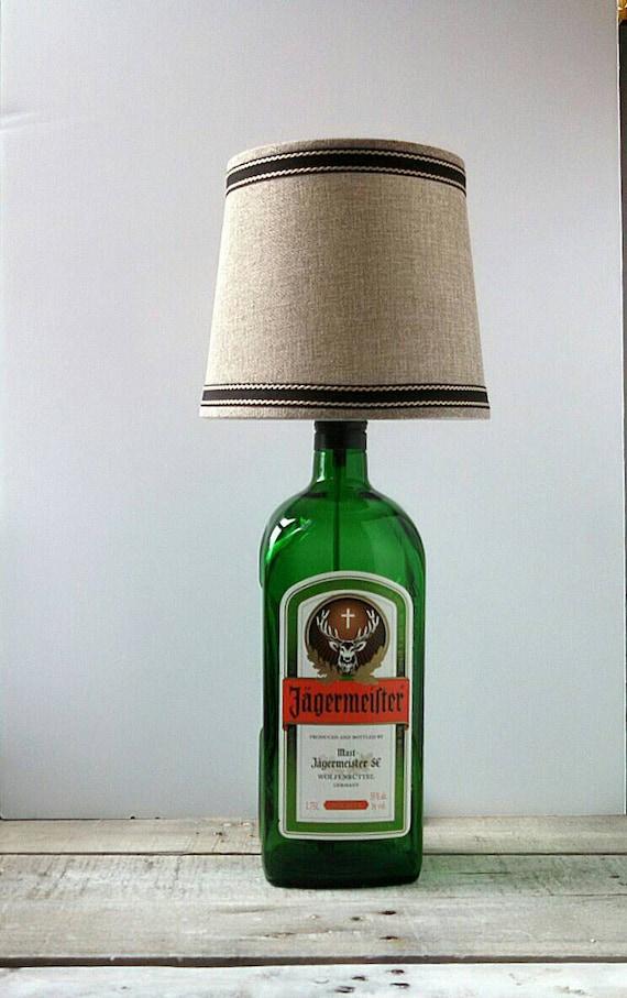 schnaps flasche lampe 175 l j germeister von unprecedented auf etsy. Black Bedroom Furniture Sets. Home Design Ideas