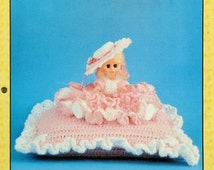 """20%OFF Td Creations ROSE MARIE 11"""" Mini Bed Doll - Crochet Doll Dress Clothes Clothing Pattern"""