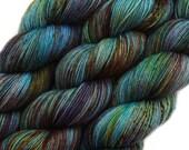 hand dyed yarn CLOCKWORK BUTTERFLY pick your base - sw merino bfl silk nylon stellina fingering dk