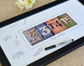 WEDDING GUEST BOOK Signing Print, Alphabet Photography, personalized Wedding date, established date