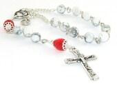 Divine Mercy & Sacred Heart Pocket Rosary, Small Catholic Rosary