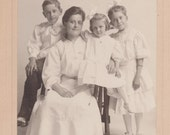 Old Photograph Family Photo Early 1900s Vintage Photo Paper Ephemera Snapshot Collectibles Formal Picture