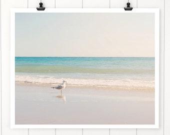 Seagull wall art, Beach Decor, Beach Photography, Beach photo, Beach art print, Ocean print, ocean art, beach house, beach cottage decor