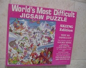 World's Most Difficult Jigsaw Puzzle. Skiing Edition. 529 Pieces, Factory Sealed, Toy, Games, Puzzle, Gift for Him, Gift for Her