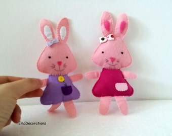 Bunny Toy Soft Doll for pretend play