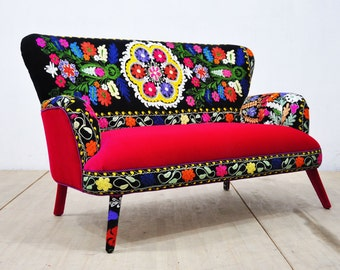 Suzani 2-seater sofa - sunrise