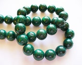 Fossil Beads Green Round 10mm