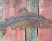 Rustic Salmon Fish Wall Hanging