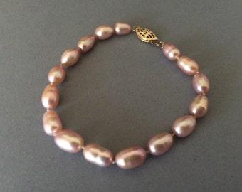 Genuine Cultured Light Pink Potato Pearl Bracelet