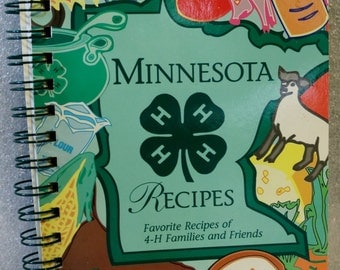 MN 4H Vintage Cookbook 1995 Recipes 4H Families Friends Midwest Recipes Minnesota Recipes