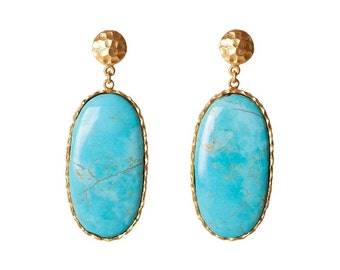 Large Drop Earrings- Turquoise
