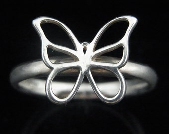 Tiffany Co Butterfly Ring 925 Sterling Silver Estate Gift Size 6