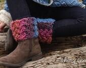 Crochet Boot Cuffs Pattern: 'Button Wrap Scarf with Headband & Boot Cuffs' Fall Fashion