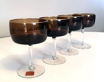 Reizart Gorham Handblown Stemware / Bavaria West Germany Mid Century / Gorham Reizart Handblown Glass / Vintage Champagne Glasses