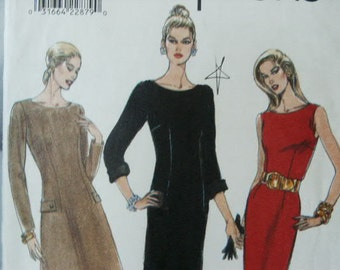UNCUT Vogue Easy Options Fitted A Line Tapered Dress 9383 Sewing Pattern Size 12 14 16