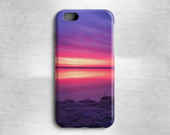 Phone Case Pink and Purple Sunrise, Available for iPhone 6, iPhone 5s/5, iPhone 5c, iPhone 4s/4, iPhone 3g/3gs, Samsung Galaxy S4, Galaxy S5