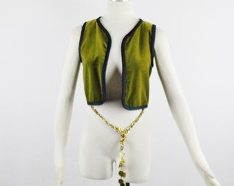 YVES SAINT LAURENT 1976 Russian Collection Velvet Trimmed Vest Sz 36 Saint Laurent France