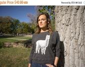 Clearance Women's Medium Alpaca Tri-Blend Long Sleeve Pullover - American Made