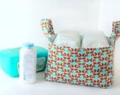 Fabric Storage Basket - Diaper Caddy -New Baby Gift - - Fox Theme - Woodland Animals Decor - Nursery Decor - Fabric Easter Basket