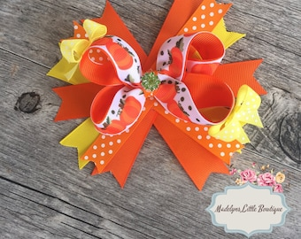 Pumpkin Hair Bow