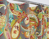 """PAISLEY Shower Curtain - Large Paisley - 72"""" Wide x 72, 78, 84 Long"""