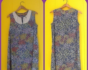 on sale Vintage Nightgowns Set Polyester Flowered Dresses Boho 60s Clothing