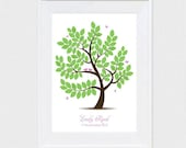 baby shower guest book alternative signature tree poster - printable file - flutterby design birds leaves baby boy or baby girl butterflies