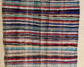 "305X160  cm ( 10' 0"" x 5' 2"") FREE SHIPPING worldwide KL28186 vintage berber kilim rug, flat rug, moroccan rugs , rag rug,morocco carpets"