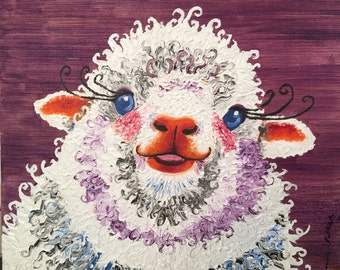 Sheep painting farm house decor