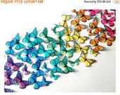SALE Cake Cupcake Toppers Wedding Cake Topper - EDIBLE BUTTERFLIES, Edible Monarch Butterfly Rainbow Cake, Wedding Cake Topper, Decorations,