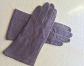 Brown Leather Gloves for Women Size 7 1/2