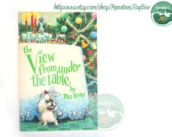 Vintage Poodle Lover Book: The View From Under the Table by Pax Kirby 1980s