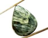 Seraphinite Cabochon Stone (26mm x 21mm x 5mm) 19.5cts - Drop Cabochon