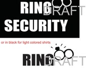 wedding Ring Security iron-on shirt decal transfer works on dark or any color of fabric, makes a great gift for ringbearer