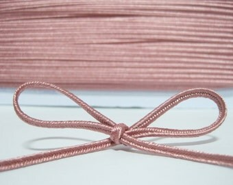 5 yards 3 mm Rose Pink Soutache Braid, Braided cord, soutache cord, soutache braided, jewelry making cord, pink cord, pink soutache, pink
