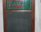 Vintage Beck's Light Bar Sign