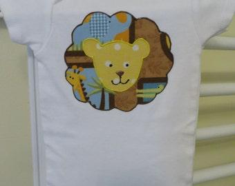 Lion's Pride appliqued Onesie