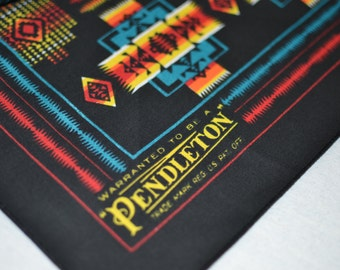 Pendleton® Bandana Dog Collar - Native American Turquoise Chief Joseph