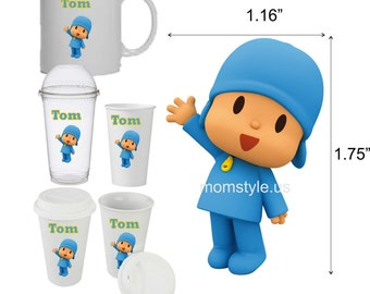 Pocoyo Cup Decal - personalized