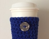 Royal Blue Coffee Cozy