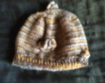 toddler winter beret with flower
