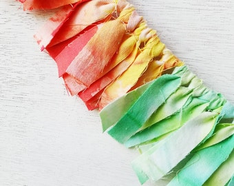 Rainbow Ombre Tie Dye Fabric Bunting