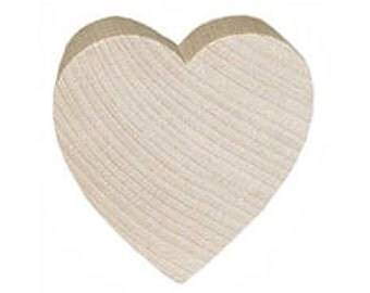 "Free Shipping 1 1/4"" wide 1/4""Wooden hearts unfinished diy"