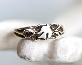 Flying Dove Ring - Sterling Silver Ring Size 5.5