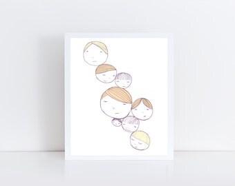 Cluster of Ladies, fine art 8x 10 print