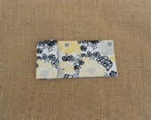 Tampon Holder - Glasses Case - Yellow, Gray, Black Flowers