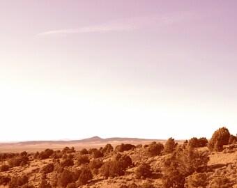 Large Modern Minimal Art, Big Sky, Southwest Minimal Sky, Southwest Landscape, New Mexico, Color Landscape, Minimalist, Nature, Sunset