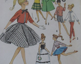 Vintage Barbie Doll Clothes Pattern - Simplicity 4700
