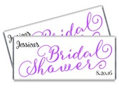 Set of 12 - Script Bridal Shower Candy Bar Wrappers - Personalized Bridal Shower Favors